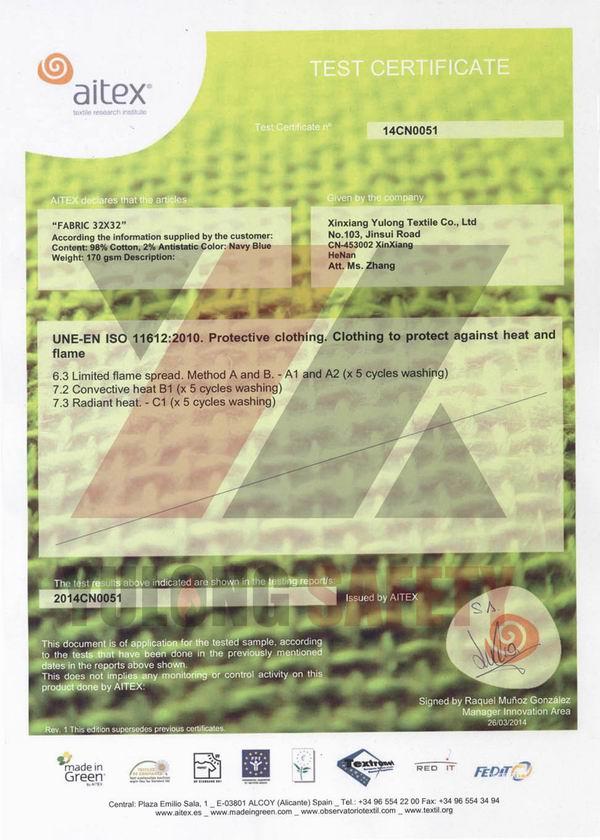 Доклад по FR.&ESD хлопчатобумажной ткани