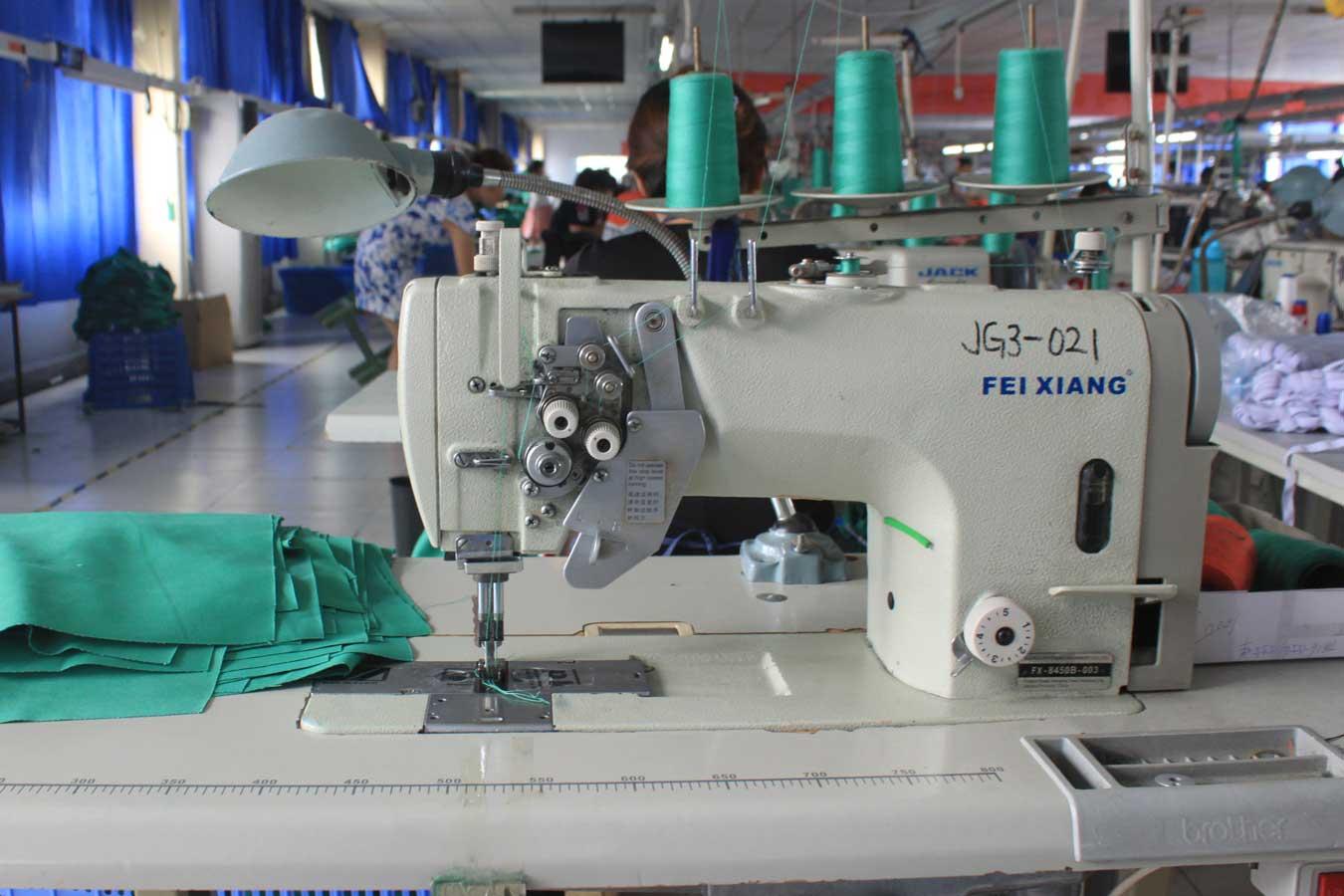 Прямострочная двухигольная швейная машина