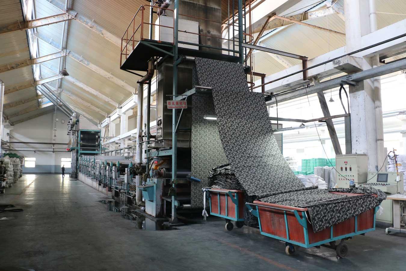 Машина для влажно-тепловой обработки тканей после печатания