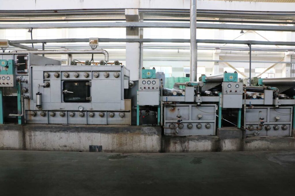 Машина для влажно-тепловой обработки тканей после печатания 3