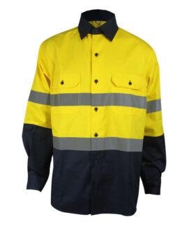 Желто-Синяя Антистатическая Рубашка