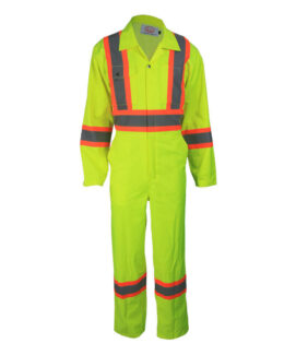 Yellow High Visibility Coveralls