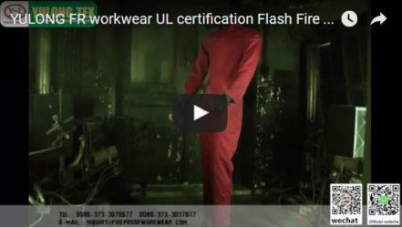 Юлон Огнестойкая Спецодежда UL Сертификация Тест На Вспышку Пламени