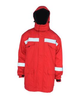 Красная зимняя огнестойких куртка