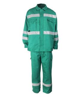 Зеленый огнезащитный анти-дуги комбинезон
