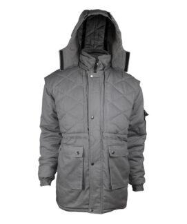 Серая зимняя огнеупорная куртка