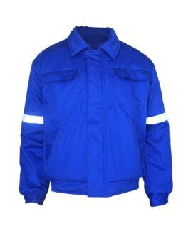 Синяя зимняя огнезащитной сварщика куртка