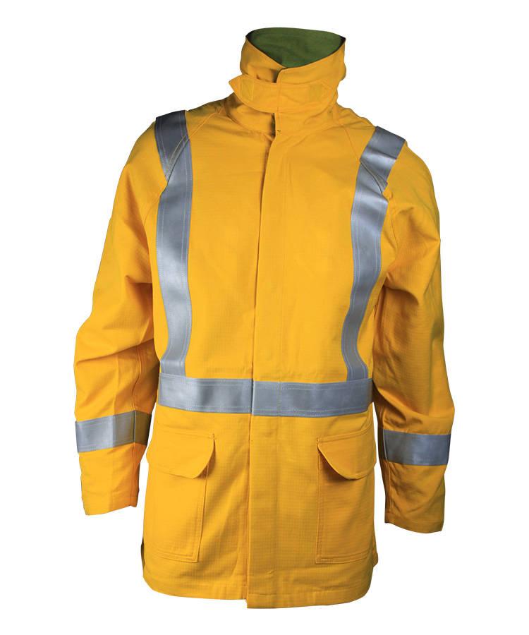 Желтая анти-дуговой куртка