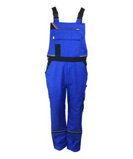 Темно-синий огнезащитный анти-статический полукомбинезон для сварщики